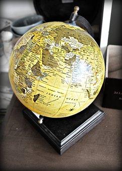 Globe, World, Vintage, Planet, Sphere, Global