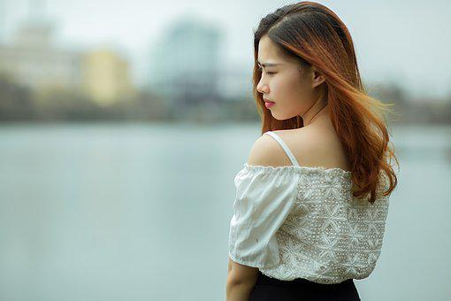 Viet Nam, Girl, Sexy, Woman, Blue, Color, Asia, Culture