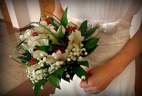 Bridal Bouquet, Wedding, Bride, Marriage, Bouquet