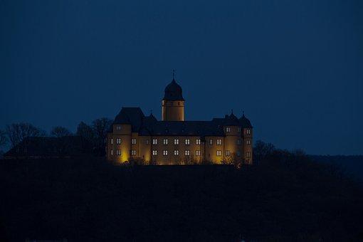 Montabaur, Castle, Abendstimmung, Castle Illuminations