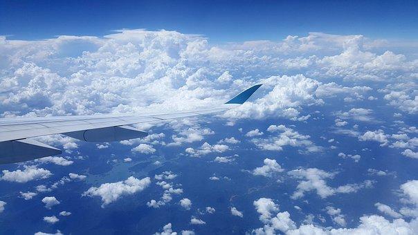 Sky, Cloud, Plane, The A350