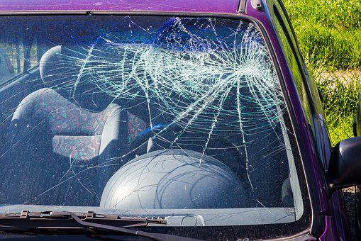 Car Accident, Accident, Wreck, Damage, Broken, Glass