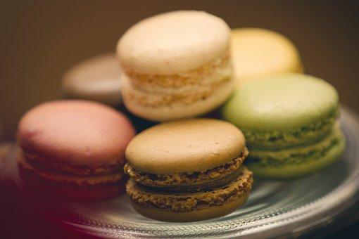 Macaroons, Cake, Dessert, Sweet, Food, Pastry