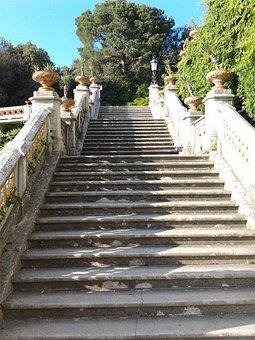Staircase, Miramare Castle, Garden, Trieste
