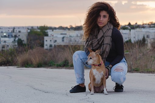 Woman, Nature, Fashion, Dog, Girl, Female, Young