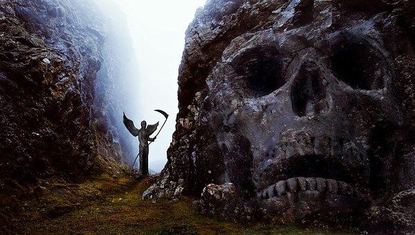 Skull And Crossbones, Angel, Gloomy, Weird, Composing