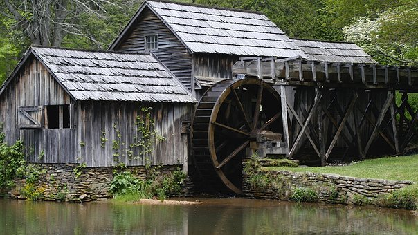 History, Mill, Old, Water, Architecture, Historic