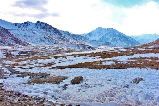 Ice, Pakistan, Snow, Mountain, Glacier, Rock, Peak