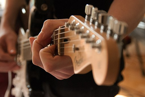 The Guitar, Loop, Musical Instrument, Hand, Close-up
