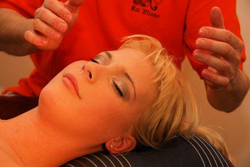 Healing, Shiatsu, Blond, Head, Massage, Beauty, Face