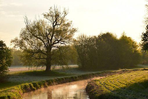 River, Morning, Sunrise, Morning Mist, Landscape