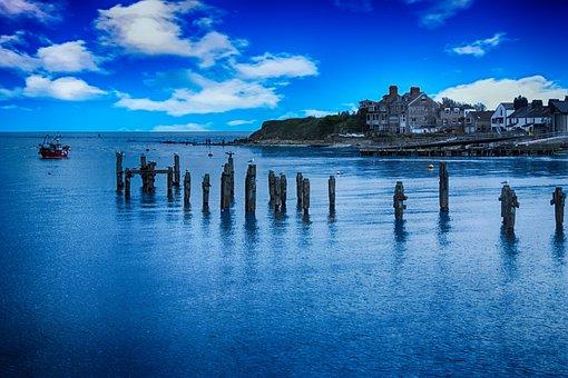 Pier, Coast, Swanage, Beach, Travel, Landscape