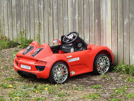 Toy Car, Parked, Juventus, Red Car, Childs Toy, Play