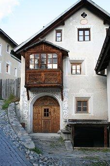 Engadin, Graubünden, Switzerland, Sent
