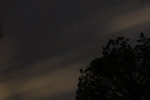 Stars, Sky, Summer, Landscape, Starry Sky, Horizon