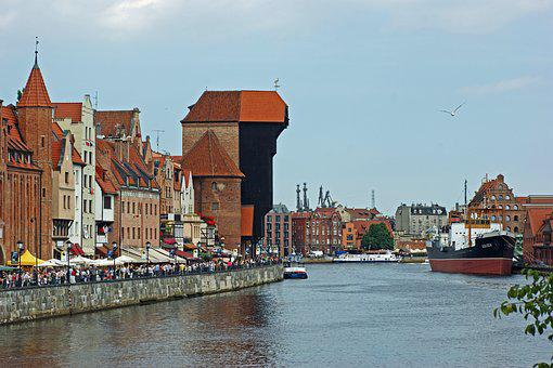 Gdańsk, Motlawa, Sołdek, River, The Old Town, Tourism