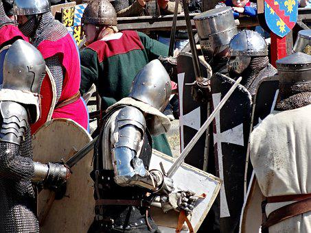 Knight Games, Knight, Armor, Fight, Swords, Middle Ages