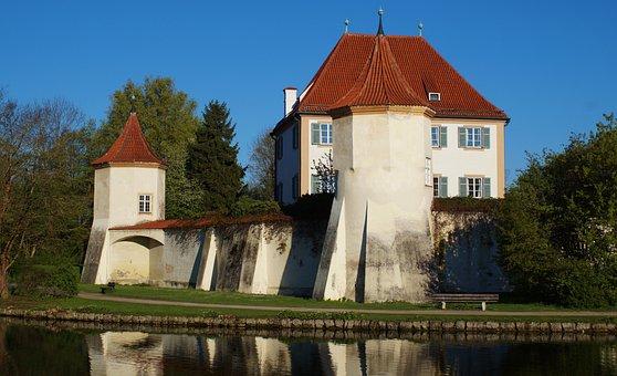 Castle, Towers, Wall, Blutenburg, Munich, Obermenzing