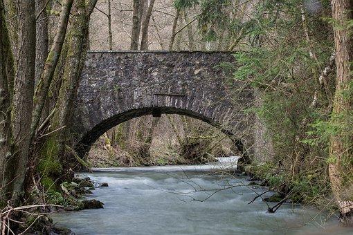 Bridge, Bach, River, Landscape, Nature, Bridge Brook