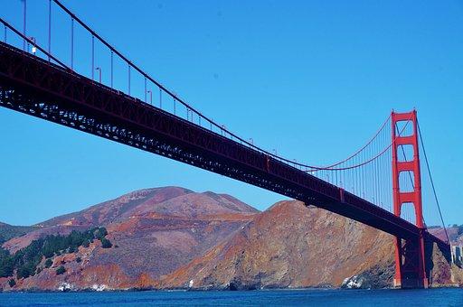 Usa, America, San, Francisco, Ca, California, Golden