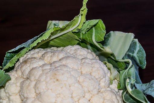 Cauliflower, Vegetables, Vegetable, White, Green, Raw