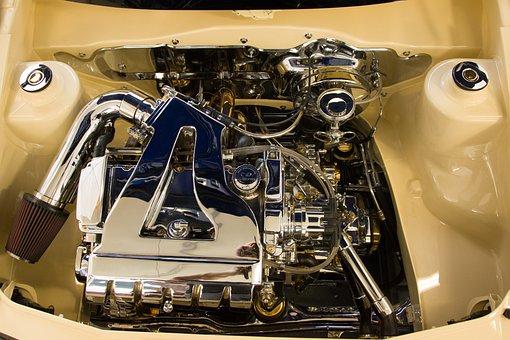Vw, Golf, Vr6, Tuning, Chrome, Motor, Volkswagen Vw
