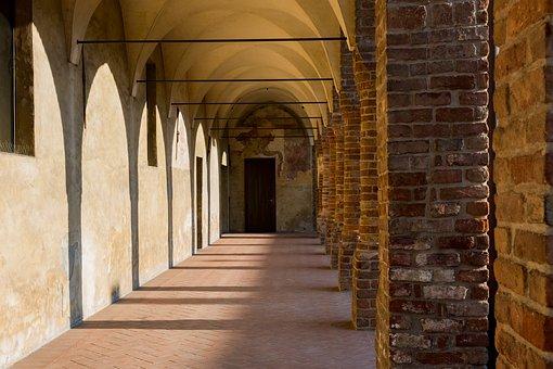 Porch, Columns, Ancient, Borgo, Portici, Colonnade