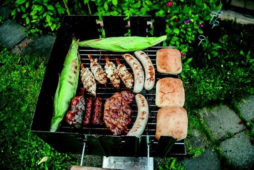 Bratwurst, Turkey, Corn On The Cob, Barbecue, Grilling