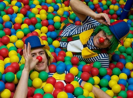Clowns, Circus, Funny, Face, Head, Cheerful, Colorful