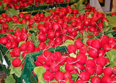Radishes, Vegetables, Food, Eat, Red, Healthy, Market