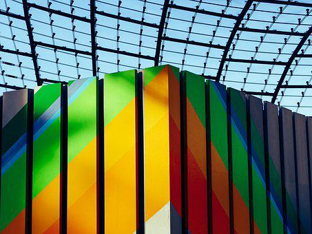 Glass Roof, Construction, Color, Art, Facade