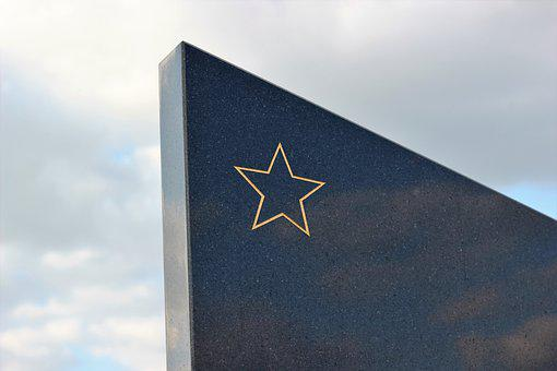 Socialist Monument, Gold Star, Black Marble, Pilot