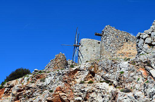 Lashitihochebene, Crete, Windmills, Greece, Holiday