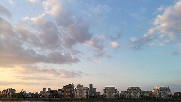 London, Bluesky, Thames, Cloud, Sky