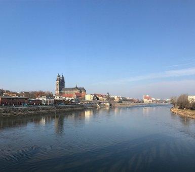 Magdeburg, Elbe, Sch, River, Nature Conservation