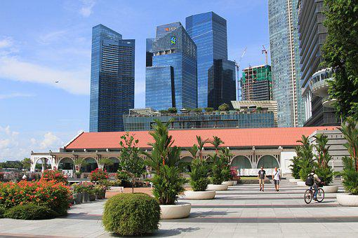 Singapore, Asia, Skyscraper, Metropolis