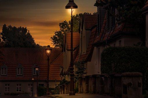 Gelsenkirchen, Schüngel Mountain, Evening, Mood