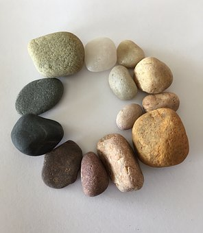 Stones, Pebbles, Color, Colored, Beach, Circle, Smooth