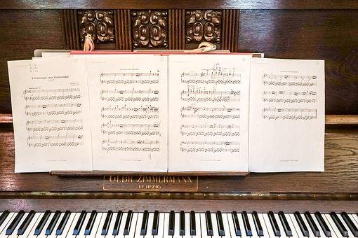 Music, Piano, Keyboard, Keys, Clef, Instrument