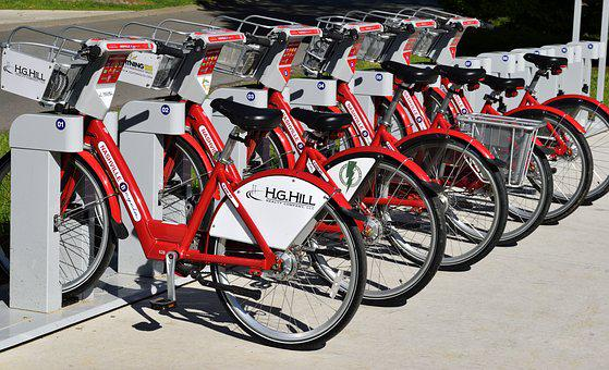 Bike Rental, Bikes, Rent, Pay, Transport