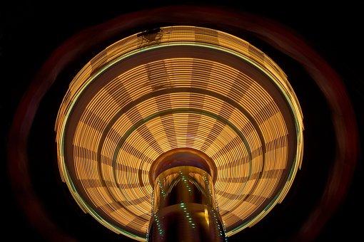 Chain Carousel, Hustle And Bustle, Fun, Ride