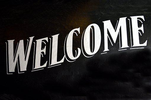 Welcome Sign, Signage, Background, Sign, Welcome
