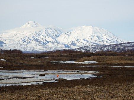 Volcanoes, Spring, Tundra, A Balloon, Snow, Winter