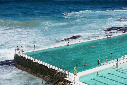 Sydney, Beach, Ocean, Bondibeach