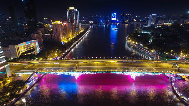 Canton, The Liberation Of The Bridge, Night View