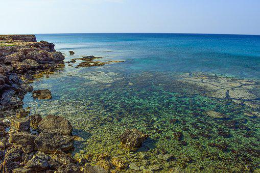 Rocky Coast, Sea, Water, Clear, Transparent, Calm