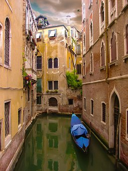 Venice, Canal, Gondola, Water, Old, Italian, Italy