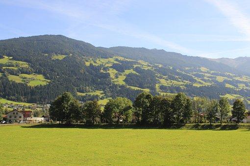 Zum Senner, Zillertal, Schlitters, Mountains, Landscape