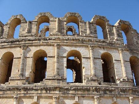 Roman Ruins, Amphitheatre, Architecture, Ancient