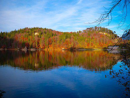 Autumn, The Hechtsee, Tyrol, Bergsee, Fish, Hike